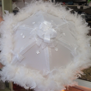 Old Town Praline Brides Feathered Second Liner