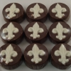 Old Town Praline Fleur de Lis Chocolate Covered Oreo