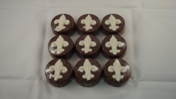 Old Town Praline Fleur de Lis Chocolate Covered Oreo